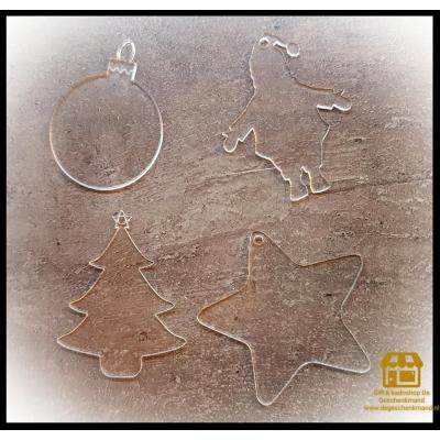 Plexiglas kerst  hanger 10 cm doorsnee met tekst