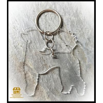 Blanco sleutelhanger plaatje hondenras